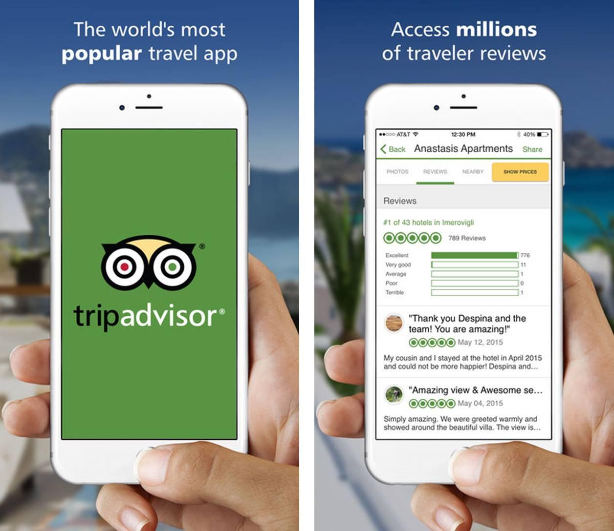 TripAdvisor migliori app ristoranti iPhone e Android