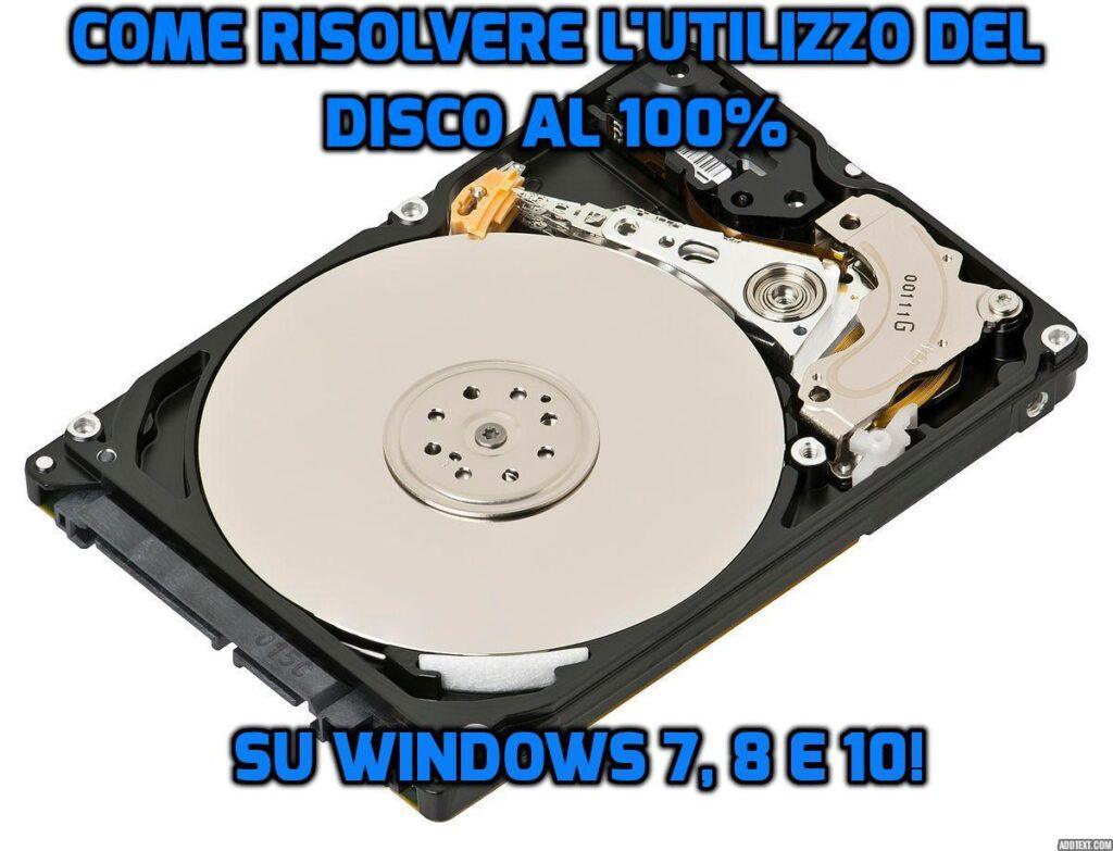 Come evitare che Windows utilizzi l'hard disk al 100% anche in idle.
