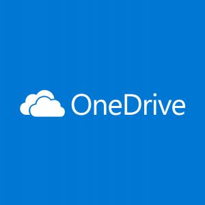 Il logo ufficiale di OneDrive, di proprietà di Microsoft