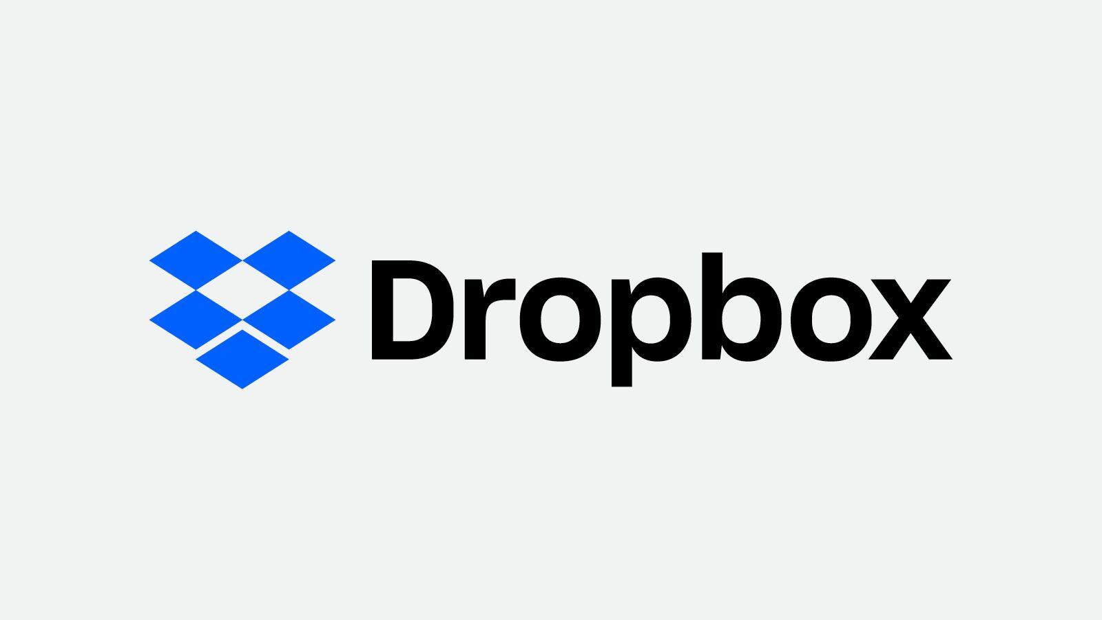Il logo del cloud storage Dropbox