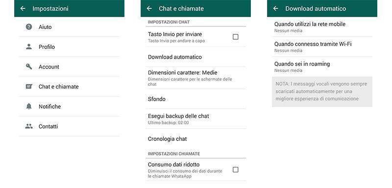 Come impedire il download automatico di immagini o video su Whatsapp