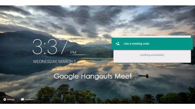 Google Hangouts Meet, ecco la nuova applicazione per videoconferenze