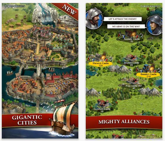 Lords & Knights Migliori giochi strategia iPhone e Android