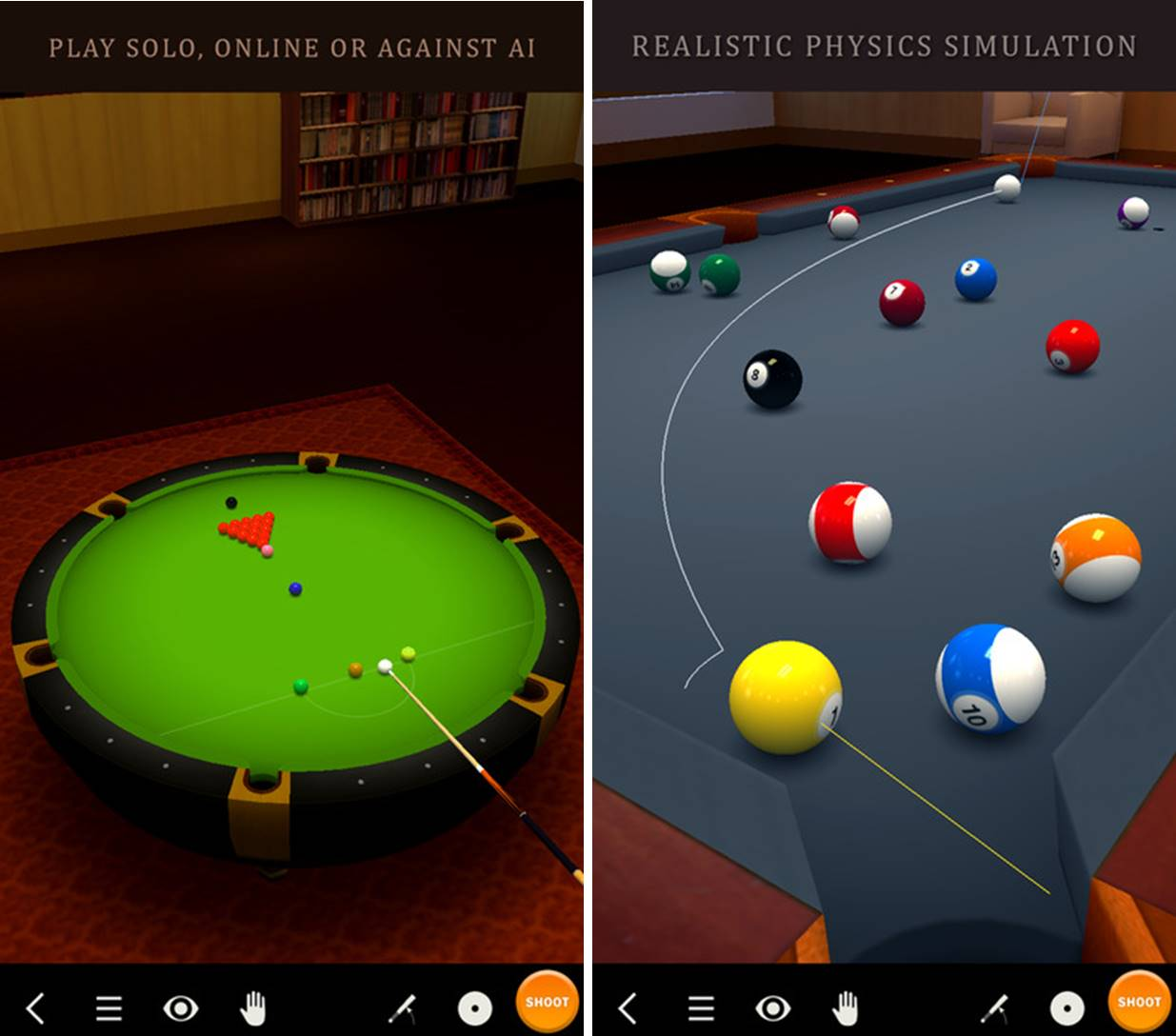 Pool Break migliori giochi da biliardo iPhone e Android