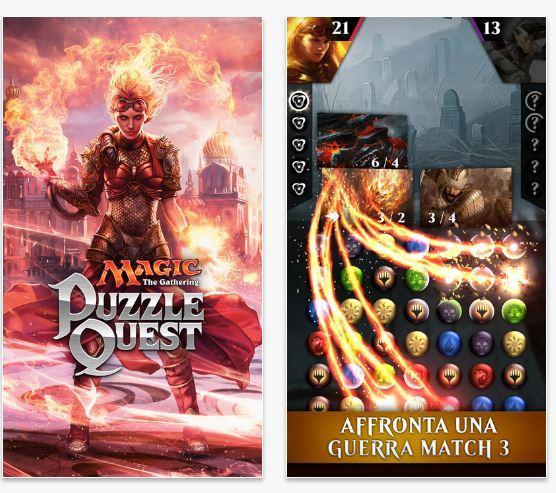 Magic The Gathering Puzzle Quest migliori giochi di carte collezionabili iPhone e Android