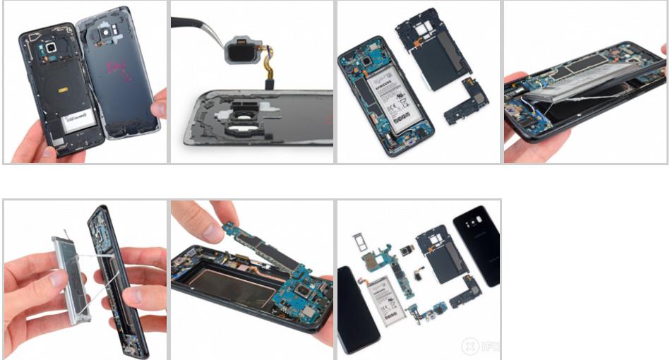 Samsung Galaxy S8 e S8+ difficili da aggiustare, ma....