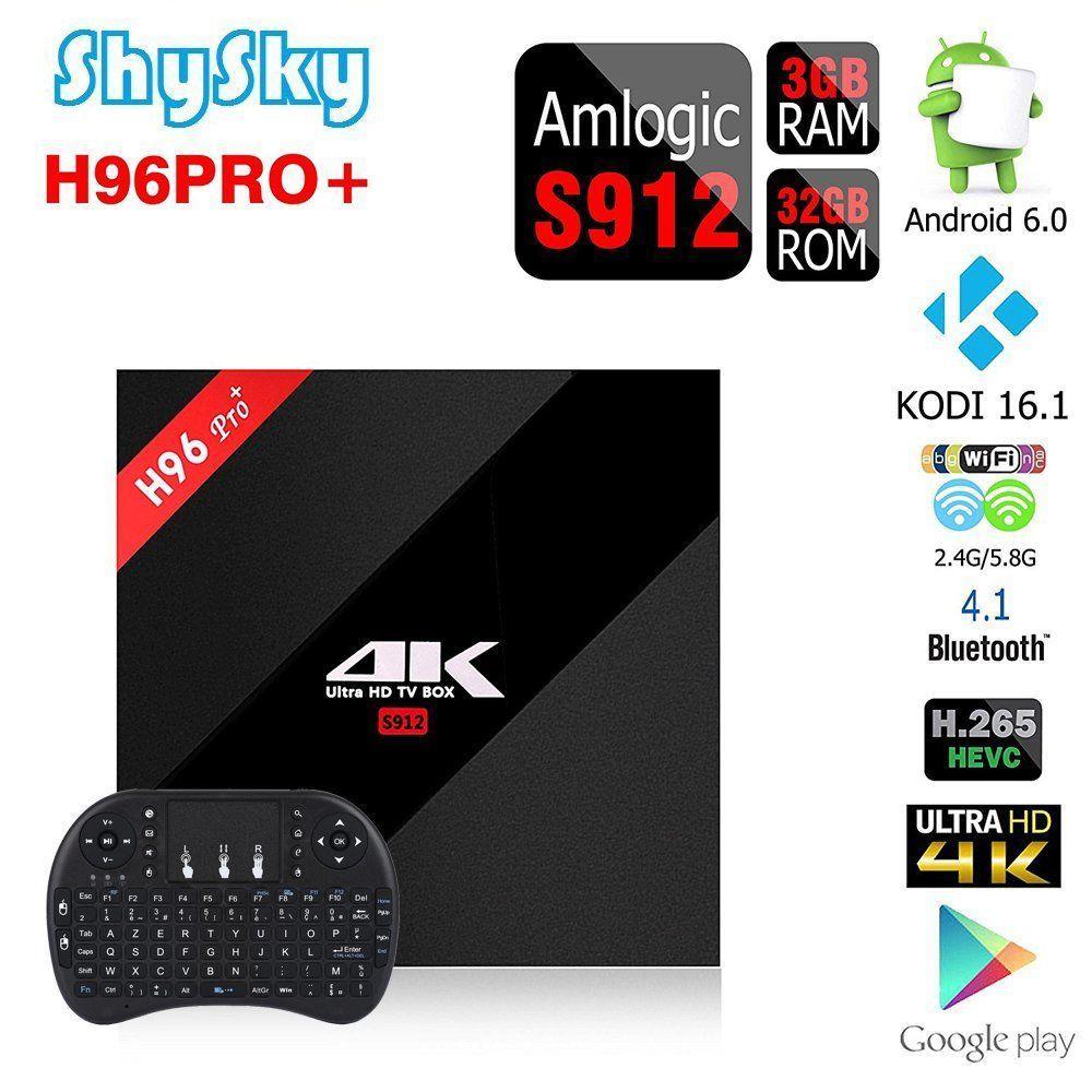 H96 Pro Plus è l'Android TV Box adatto a chi non vuole perdere tempo nell'installazione di Kodi: fin da subito potrete guardare film, serie tv e sport in streaming!