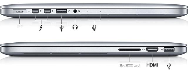 macbook porte thunderbolt e hdmi