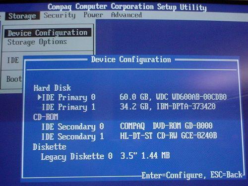 BIOS COMPAQ