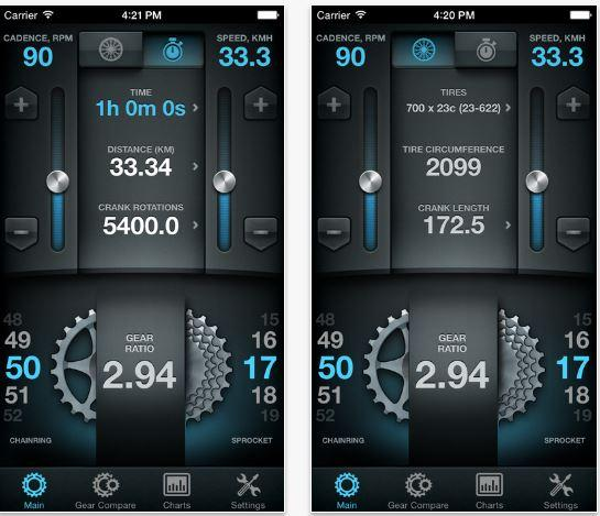 Bike Gear Calculator Migliori app per ciclisti iPhone e Android