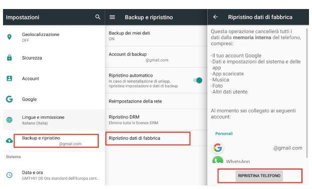 Come rimuovere contenuto smartphone Android prima di venderlo