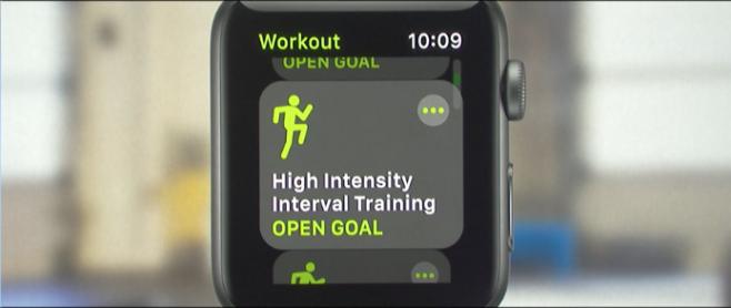 WatchOS 4 allenamento intensivo