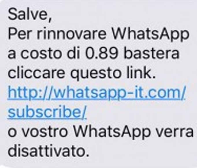 WhatsApp truffe a pagamento