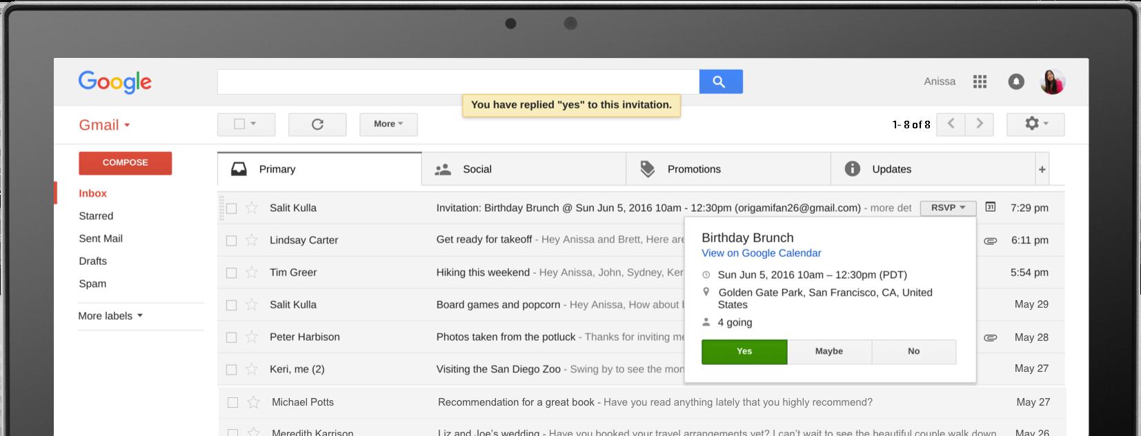 gmail è un servizio molto sicuro ma l'utente deve comunque prendere precauzioni