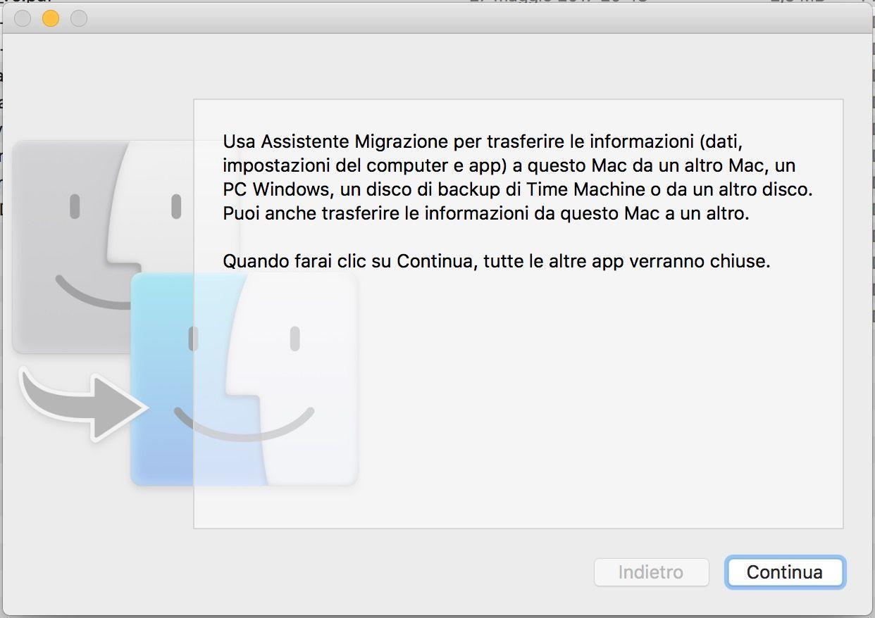 L'utility Migrazione Assistita di Mac permette di trasferire tutte le impostazioni in un colpo solo