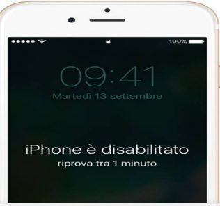 Codice di accesso iPhone dimenticato