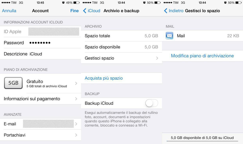 Codice di accesso iPhone dimenticato ripristino mediante iCloud
