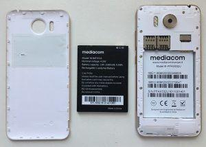 Mediacom PhonePad Duo X532U back cover e batteria