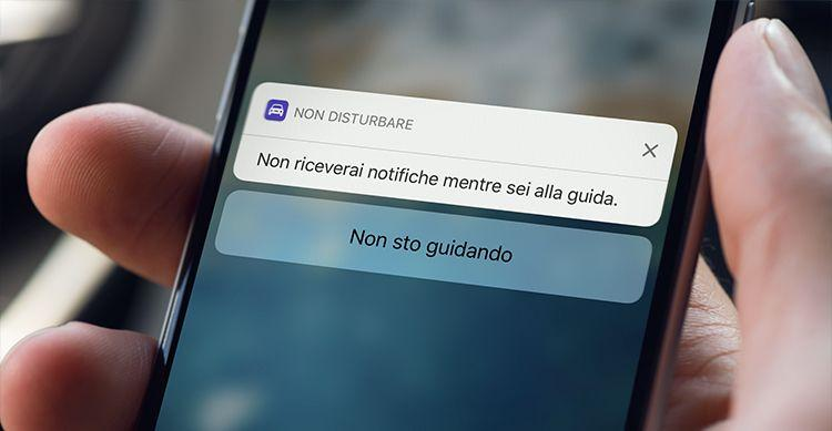 Non disturbare alla guida iOS 11 iPhone
