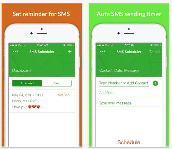 SMS Scheduler programmare invio messaggi iPhone