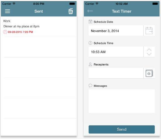 Text Timer programmare invio messaggi iPhone