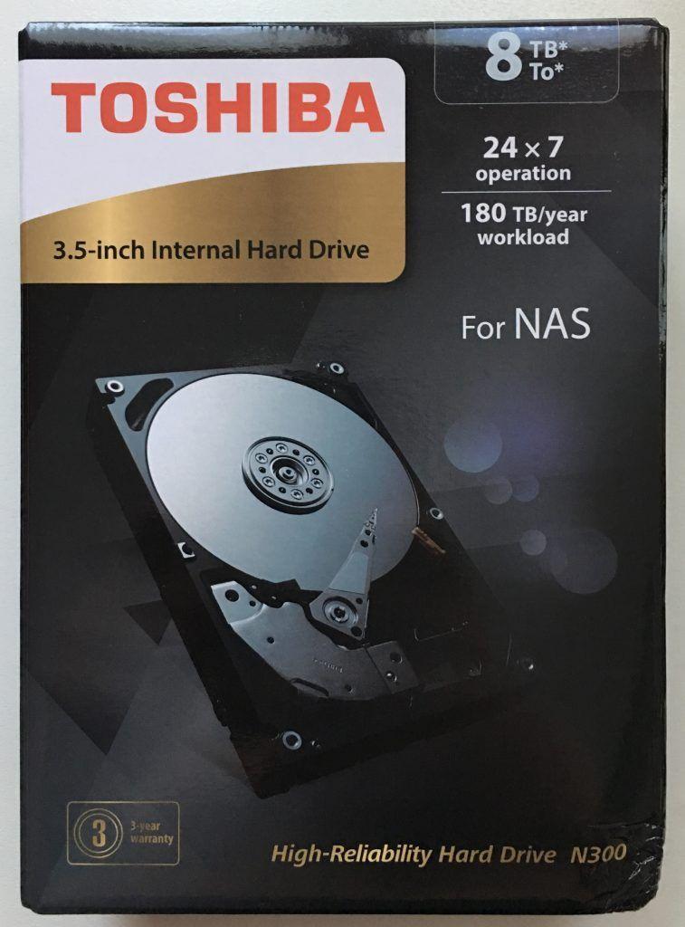 Toshiba N300 8TB 3.5 fronte scatola