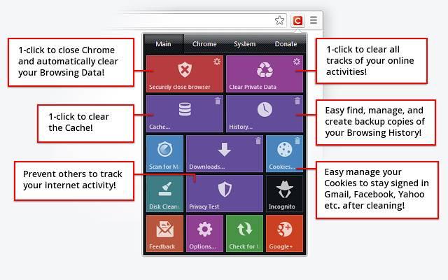 click&clean Google Chrome come svuotare la cache