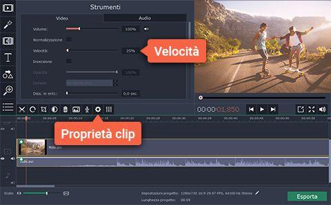 come creare un video slow motion - passo 3