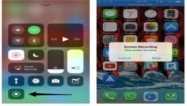 iOS 11 registrazione schermo