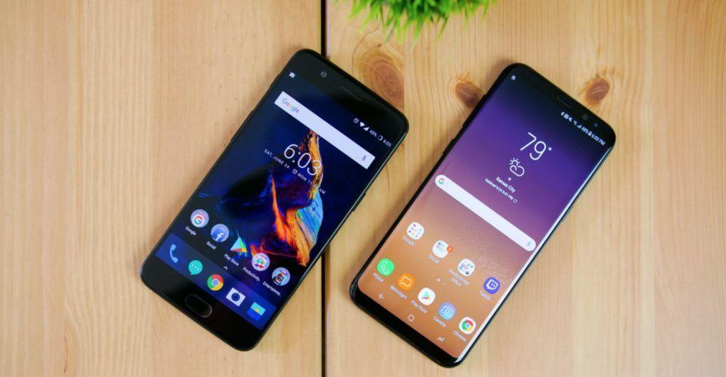 confronto display s8 oneplus 5