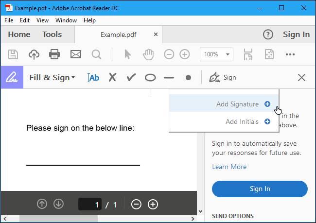 Come apporre firma su PDF Adobe Reader DC