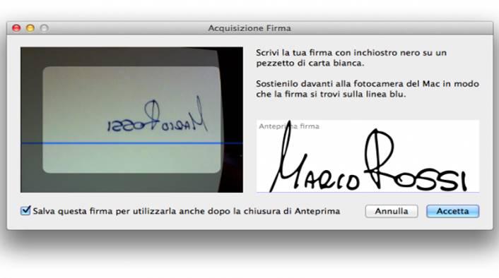 Come apporre firma su PDF Anteprima per Mac OS