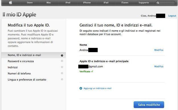 Come attivare l'ID Apple sull'iPhone 7