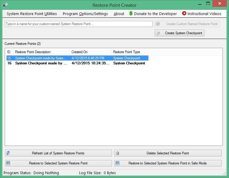 Come creare punto di ripristino su Windows 10 Restore Point