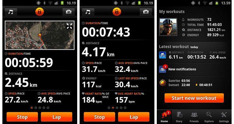 Le 3 migliori app Android per sportivi