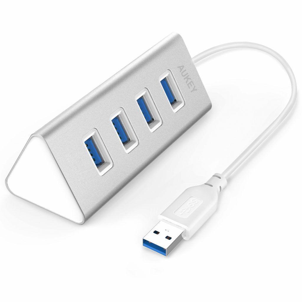 migliori accessori adattatori per macbook Aukey Hub Usb 3.0