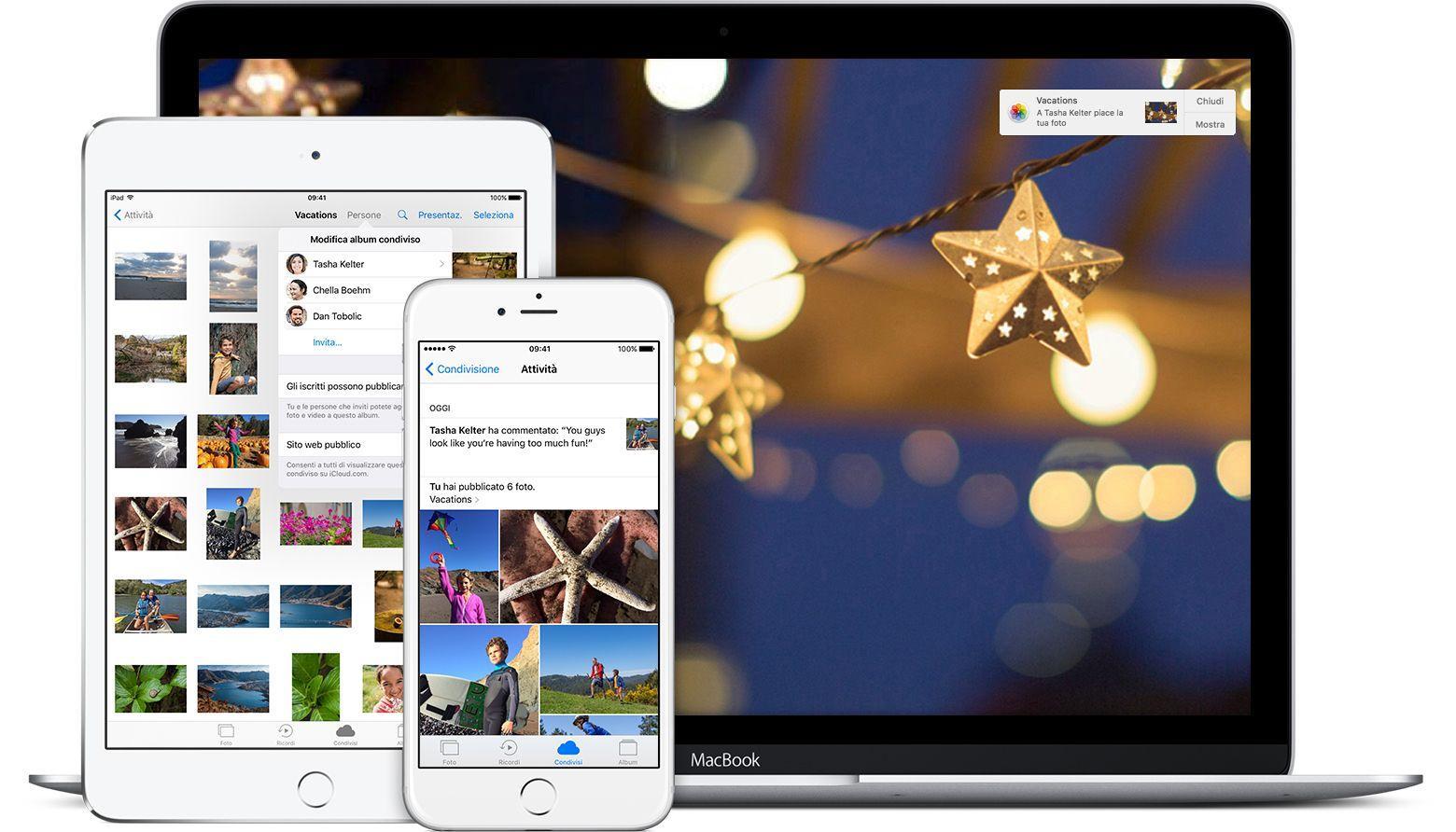 Come creare album foto condiviso su iPhone