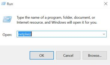 Come eliminare password Windows 10 netplwiz