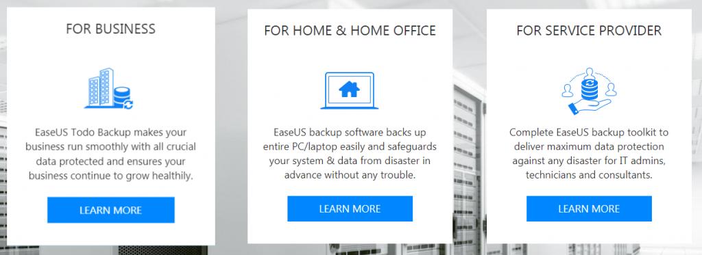 Обзор лицензионных версий EaseUS Todo Backup