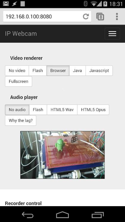 IP Webcam app