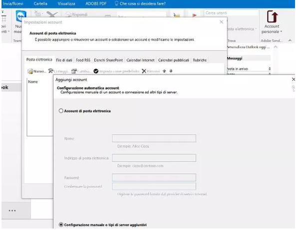 configurare aruba mail con outlook - 1