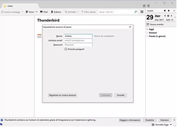 configurare aruba mail con thunderbird - 1