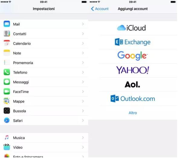 configurare aruba mail su iphone ed ipad