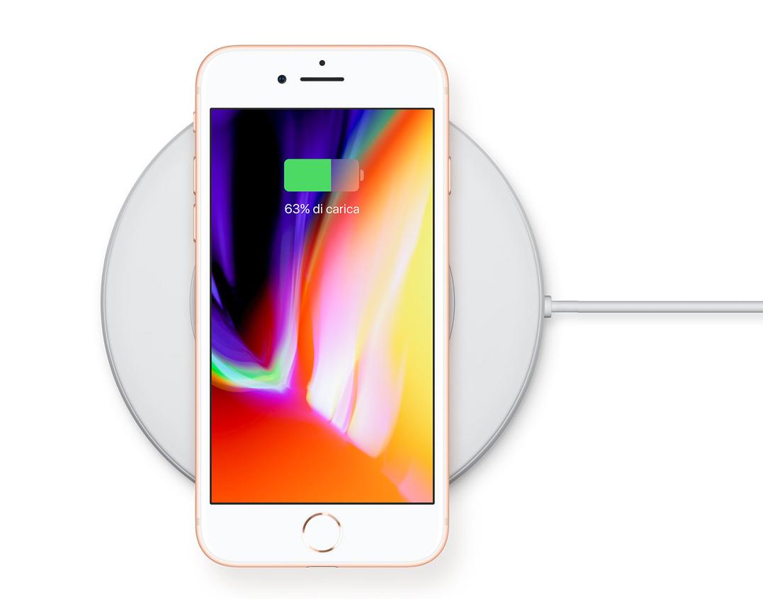supporto ricarica wireless qi per iphone 8