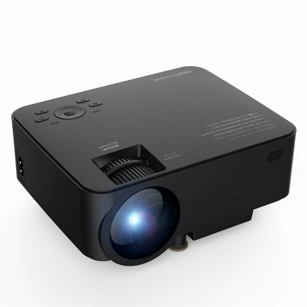 migliori proiettori economici sotto 100 euro - Mini Proiettore db DBPOWER T20 LCD da 1500 Lumen