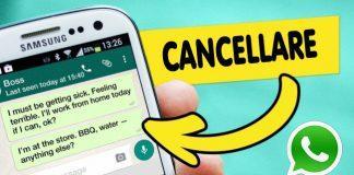 Come cancellare messaggi WhatsApp inviati prima che siano letti