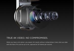 DJI Mavic Pro - ottica 4k