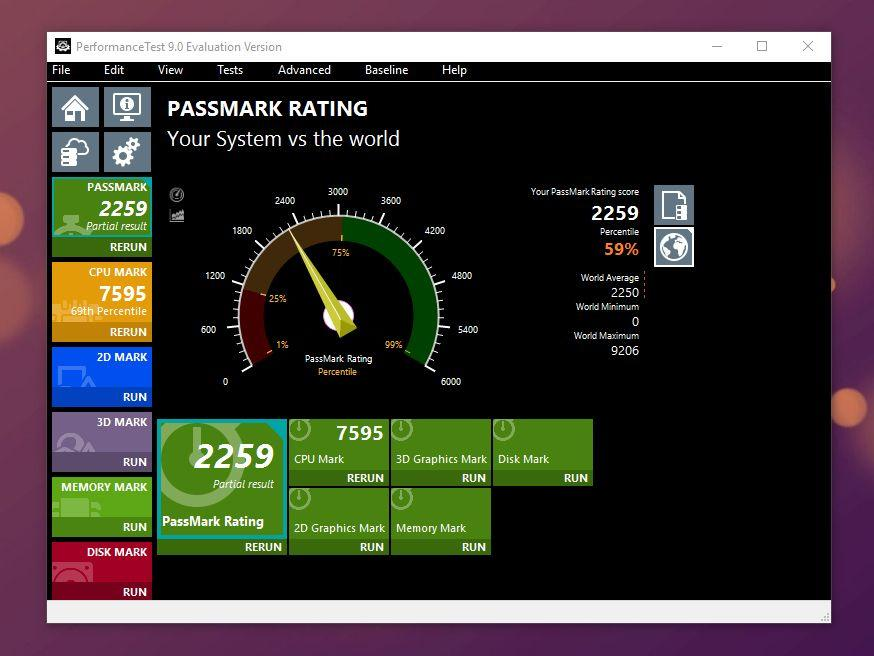 Migliori programmi per benchmark di PC e schede video - PASSMARK PERFORMANCE TEST