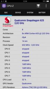 Oppo-R9S - risultato benchmark cpu z