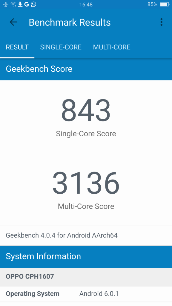 Oppo-R9S - risultato benchmark geekbench
